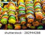 grilled shashlik for healthy... | Shutterstock . vector #282944288