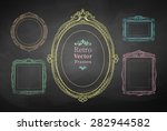 chalk drawn vector collection... | Shutterstock .eps vector #282944582
