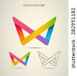 vector infinity origami design...   Shutterstock .eps vector #282951182