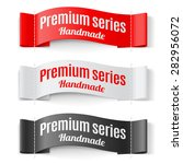 raster version. set of labels...   Shutterstock . vector #282956072