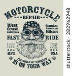 "retro design ""motorcycle repair ... | Shutterstock .eps vector #282962948"