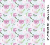 floral seamless pattern  vector ... | Shutterstock .eps vector #282963788