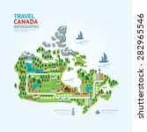 infographic travel and landmark ... | Shutterstock .eps vector #282965546