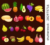collection of fruits flat icons ... | Shutterstock .eps vector #282975716