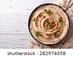 Classic Hummus With Parsley On...