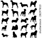 series of world famous dogs | Shutterstock .eps vector #28297813