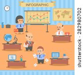 infographic character business... | Shutterstock .eps vector #282980702
