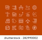 thin lines icons set of...   Shutterstock .eps vector #282990002