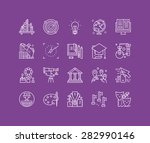 thin lines icons set of big... | Shutterstock .eps vector #282990146