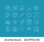 thin lines icons set of cloud... | Shutterstock .eps vector #282990158