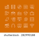 thin lines icons set of... | Shutterstock .eps vector #282990188