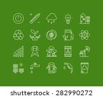 thin lines icons set of ecology ... | Shutterstock .eps vector #282990272