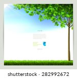 season tree with green leaves... | Shutterstock .eps vector #282992672