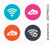 circle buttons. free wifi... | Shutterstock .eps vector #282998312