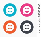 circle buttons. speech bubble... | Shutterstock .eps vector #283005068