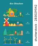 vector flat illustrations  ... | Shutterstock .eps vector #283029542