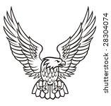 eagle vector illustration | Shutterstock .eps vector #28304074