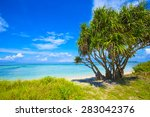beautiful sea and coastlines of ... | Shutterstock . vector #283042376