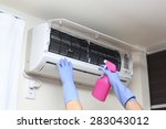 Small photo of air conditioner cleaning