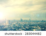 blurred aerial view of bangkok... | Shutterstock . vector #283044482