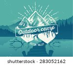 outdoor camp typography design... | Shutterstock .eps vector #283052162