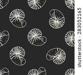 shell doodle seamless pattern...   Shutterstock .eps vector #283052165