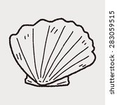 shell doodle   Shutterstock .eps vector #283059515