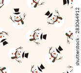 christmas snowman icon 10... | Shutterstock .eps vector #283064912