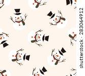 christmas snowman icon 10... | Shutterstock .eps vector #283064912