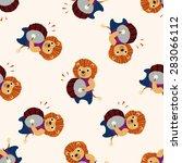 musical animal lion icon 10... | Shutterstock .eps vector #283066112