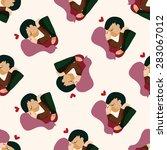 valentine's day theme love... | Shutterstock .eps vector #283067012