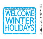 winter stamp text design | Shutterstock .eps vector #283078145