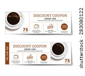 coffee coupon discount ... | Shutterstock .eps vector #283080122