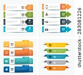 set of infographic templates | Shutterstock .eps vector #283081226
