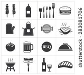 barbecue icon | Shutterstock .eps vector #283081706