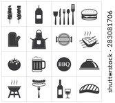 barbecue icon | Shutterstock .eps vector #283081706