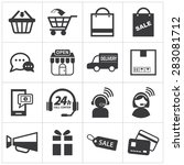 e commerce icon set | Shutterstock .eps vector #283081712