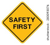 safety first symbol   Shutterstock .eps vector #283093076