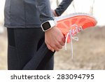 running stretching   runner... | Shutterstock . vector #283094795