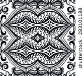 black and white geometric... | Shutterstock .eps vector #283101188