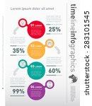 web template for vertical... | Shutterstock .eps vector #283101545