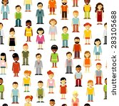 seamless pattern social concept ... | Shutterstock .eps vector #283105688