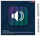 volume icon   abstract logo... | Shutterstock .eps vector #283107995