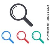 magnify icon   Shutterstock .eps vector #283111325