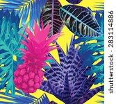 summer seamless vector floral... | Shutterstock .eps vector #283114886