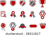 vector icons pack   red series  ... | Shutterstock .eps vector #28311817