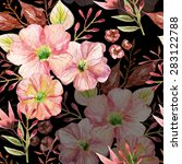 seamless pattern with pink... | Shutterstock . vector #283122788