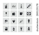 cafe icons universal set for... | Shutterstock .eps vector #283123178