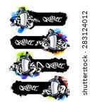 horizontal graffiti banners... | Shutterstock .eps vector #283124012