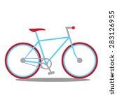 city bike  | Shutterstock .eps vector #283126955